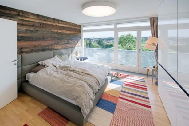 Living Room, Wooden Details Bedroom: The Nussberg Penthouse : Playfulness Meets Rustic Elegance