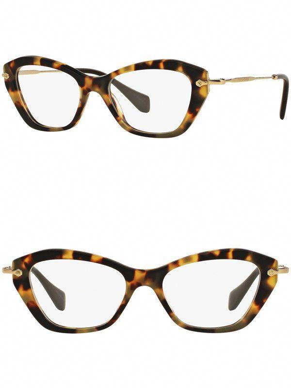 e057ccf09ed3 Vision Care 31414  Miu Miu Eyeglasses Mu04lv Han1o1 52 Havana Frame Demo  Lenses -
