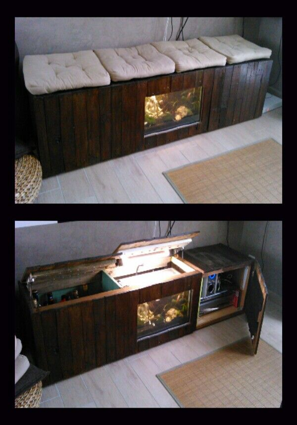 meuble aquarium palette. Black Bedroom Furniture Sets. Home Design Ideas