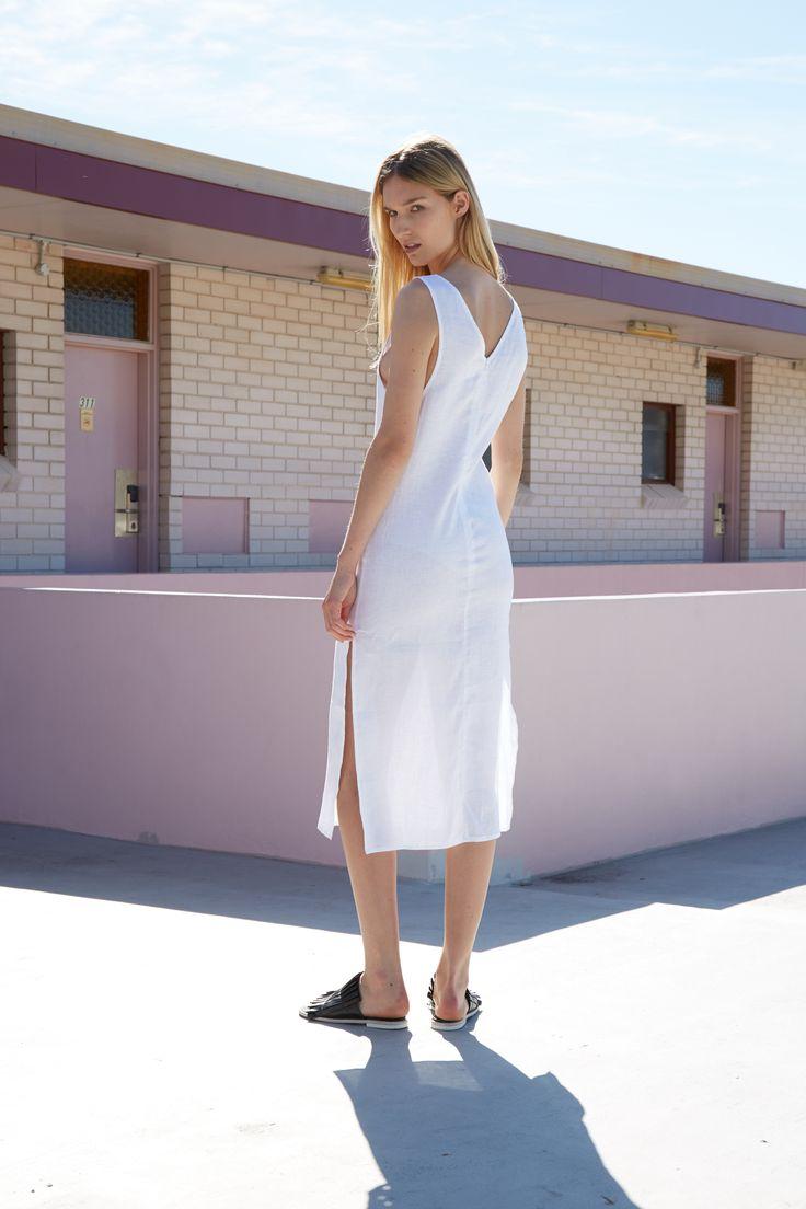 THIRD FORM RESORT 16 COLLECTION   SWEET SURRENDER DRESS  #thirdform #fashion #streetstyle #minimalism #chic #trend #dress #white