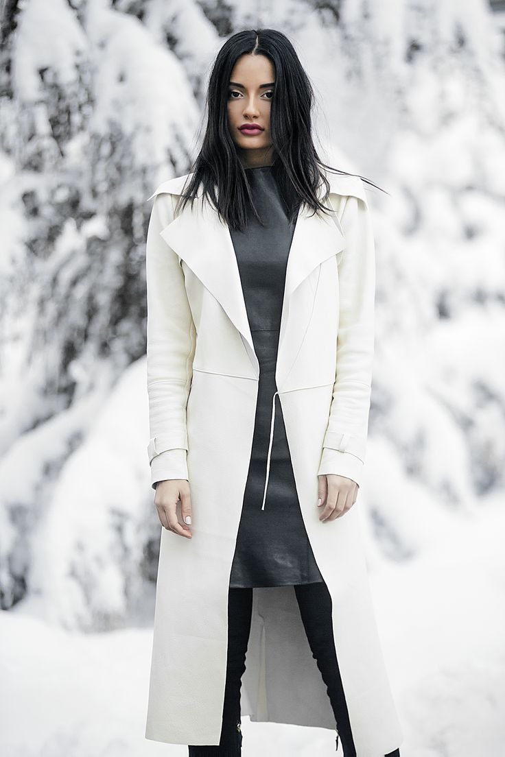 Amina Muaddi - Céline dress, Andra Andreescu trench coat, Oscar Tiye suede boots.