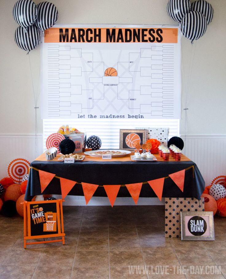 March Madness HUGE Bracket Poster and party ideas.