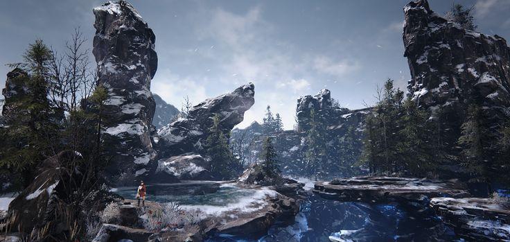 UE4 - Winter scene 'White' WIP