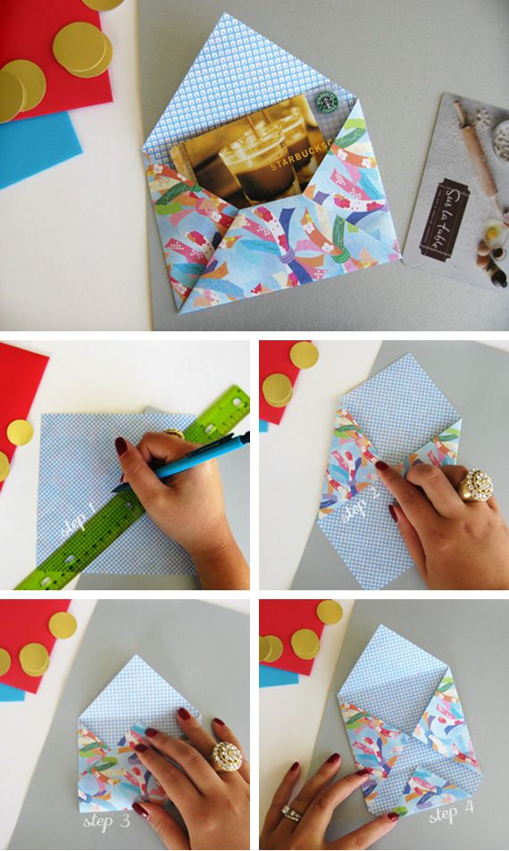 photo tutorial: Origami envelope ... great for two sided papers ... for little cards ...