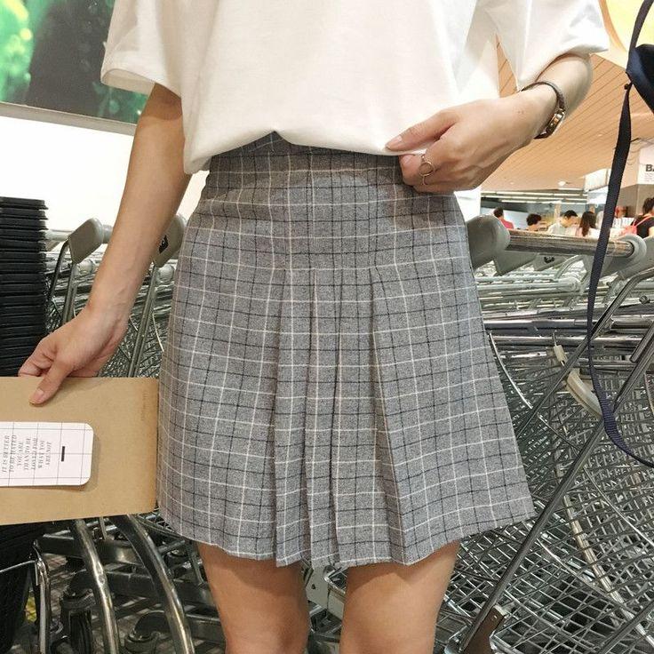 harajuku skirts womens 2017 korean skirt summer style new plaid pleated skirt rock kawaii high waist skirt women skirts womens, skirts womens clothing for sale, women's skirts and dresses, women's skirts australia, women's skirts below knee. #ad