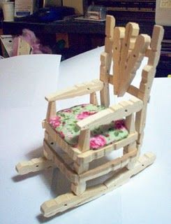 Clothes pin rocking chair