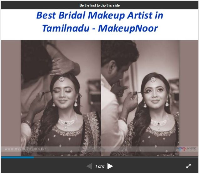 Are you looking for professional bridal makeup artist / studio in Tamilnadu then contact Noor. He is the experienced wedding makeup artist and provides best services at very affordable prices.