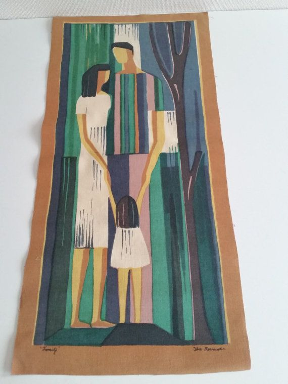 Scandinavian vintage wallhanging /tapestry. by scandinavianseance