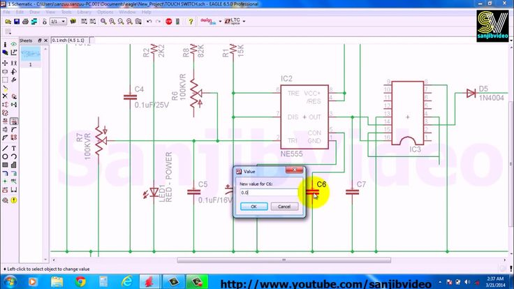 EAGLE # 4 of 12  : ADD/EDIT COMPONENT VALUE : How to Design Circuit
