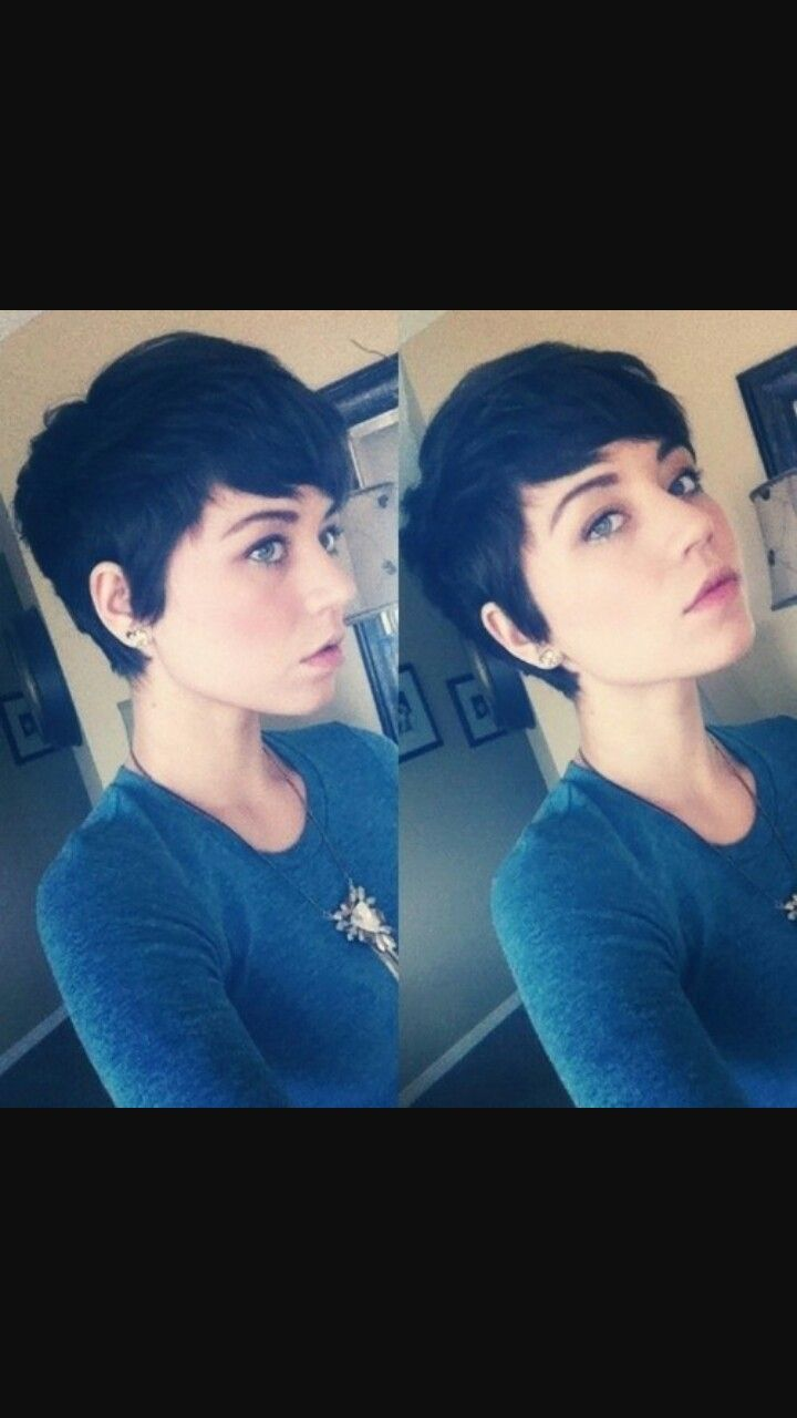 Cute pixie cut for heart shaped faces