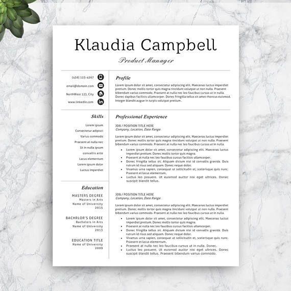 28 best Resume Templates images on Pinterest Cv template - sales resume words