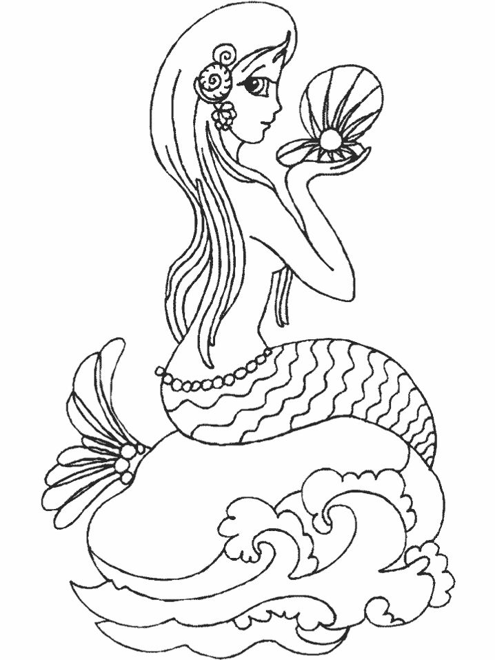 mermaid images for printing | Mermaid Coloring Pages | Coloring Pages To Print