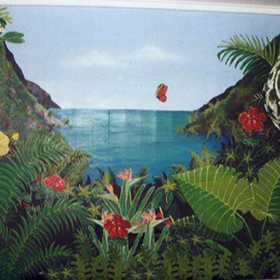 Tropical Scene, Friends Home, Maui