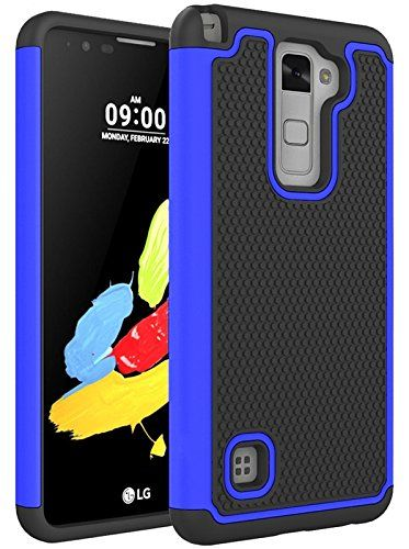 LG Stylus 2 Case, LG G Stylo 2 LS775 Case, VL [Shock Absorption] Drop Protection Hybrid Dual Layer Armor Defender Protective Case Cover for LG G Stylo 2 LS775 / LG Stylus 2 (Blue). Custom designed for LG G Stylo 2/ LG Stylus 2. NON SLIP GRIP keeps phone safe from drops with its comfortable easy grip / non slip contour. Full front and back protection with a beveled, textured back and raised edges. slim lightweight design with easy snap on/off installation fits your phone securely. Raised...