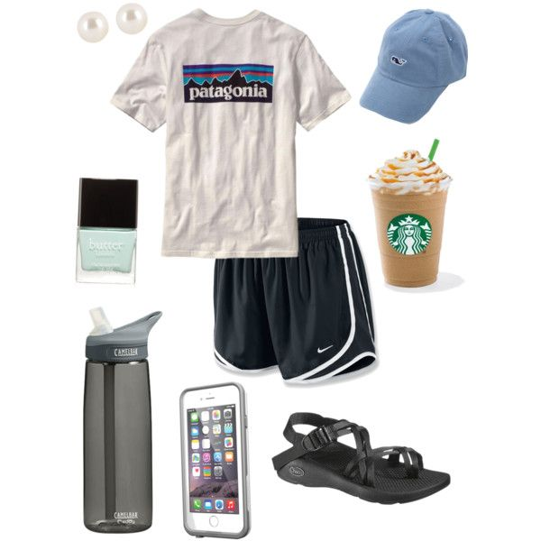Preppy hiking by taylorbenson on Polyvore featuring NIKE, Chaco, Henri Bendel, Vineyard Vines, Butter London, Patagonia and CamelBak