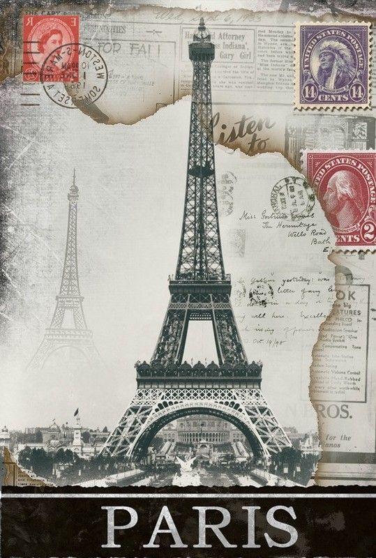 17 best images about paris vintage on pinterest paris - Poster tour eiffel ...