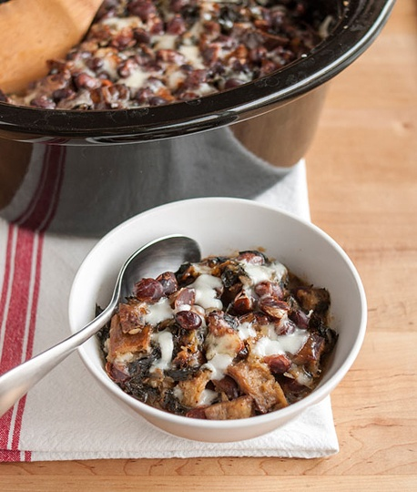 Cheesy panade with Swiss Chard, Beans and Sausage... 15 easy one dish ...