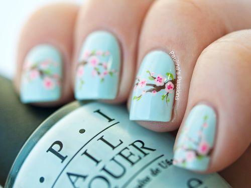 #pastel nails ~ Colette Le Mason @}-,-;---