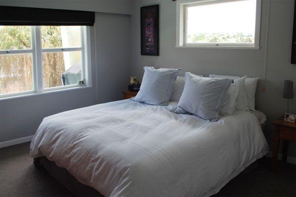 Resene Pale Slate on bedroom walls