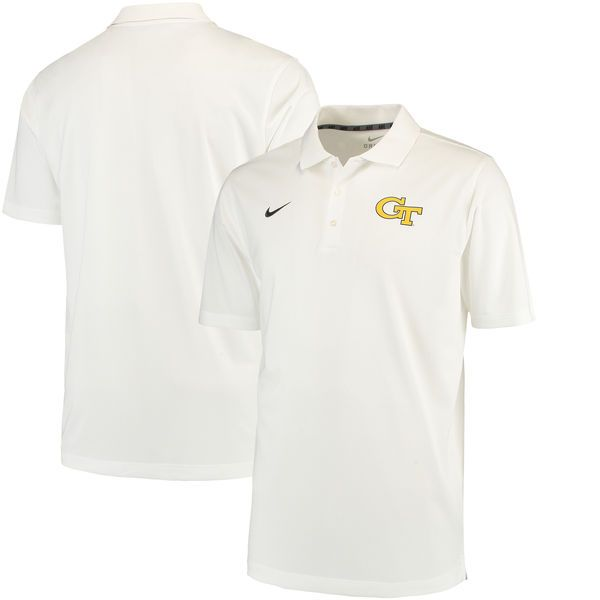 GA Tech Yellow Jackets Nike Varsity Dri-FIT Polo - White - $54.99