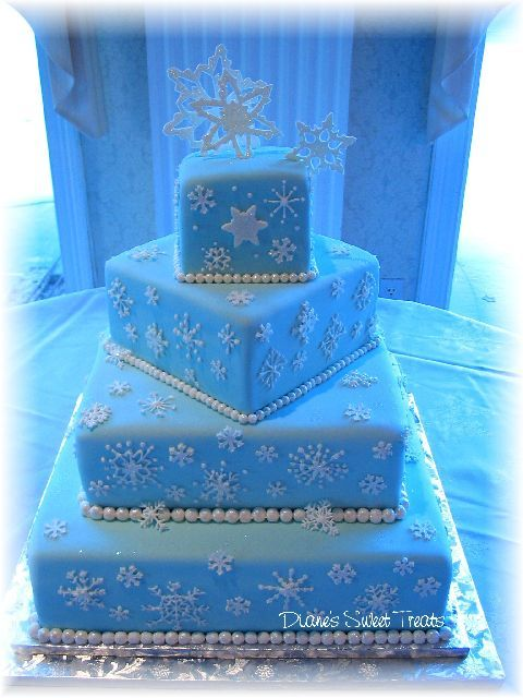 snowflake wedding cakes - Google Search