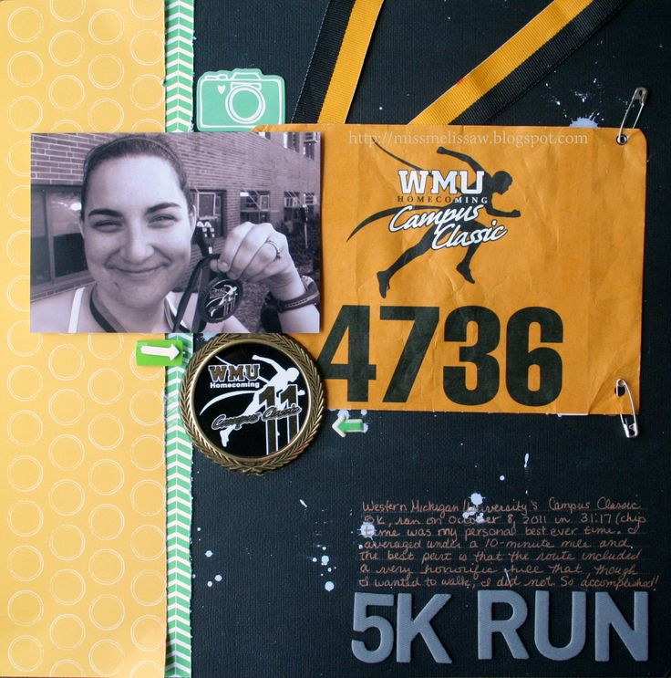 5K RUN - Scrapbook.com I need to do these for all my races!