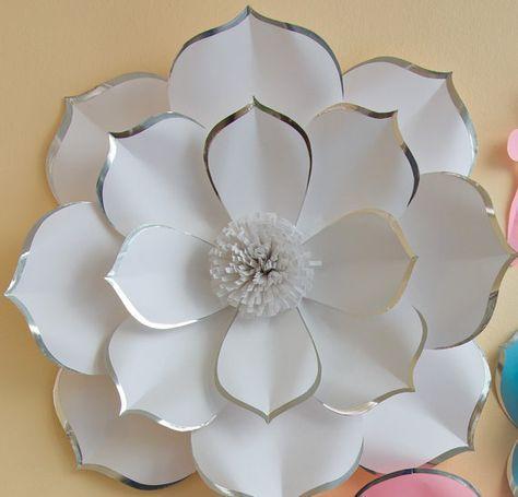 Boda fondo papel grande flor Wall vivero Decor flor de