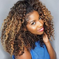 twist out fall winter natural hair highlight ombre color inspiration @curldaze
