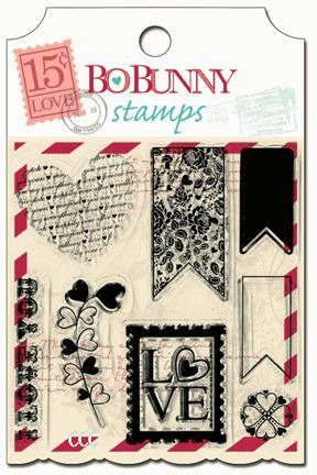 Bo Bunny - Love Letters Clear Stamp Set
