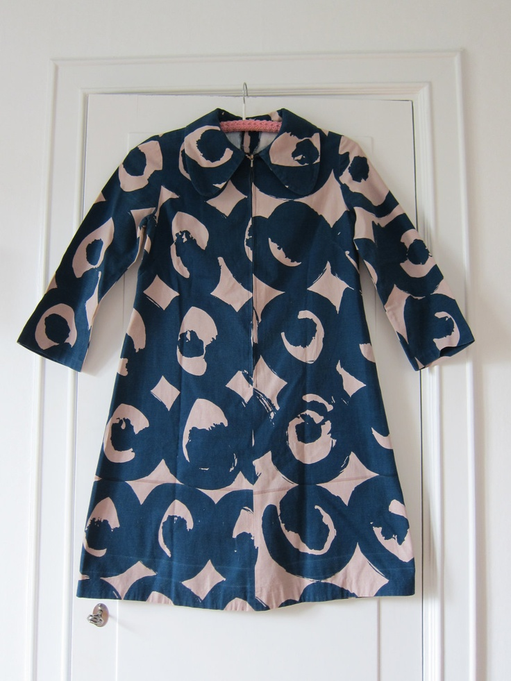 Marimekko custom made vintage dress 1960s / Finland Scandinavian design.  @Francisca Hernandez Drexel
