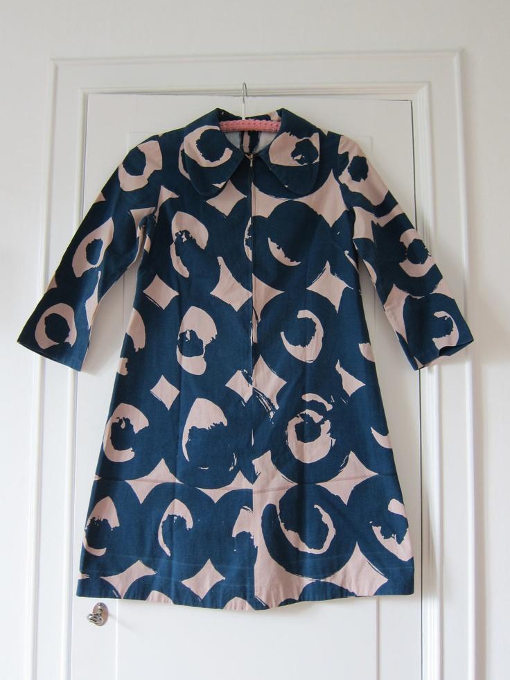Marimekko custom made vintage dress 1960s / Finland Scandinavian design.  @Francisca Hernandez Hernandez Hernandez Hernandez Hernandez Hernandez Hernandez Drexel