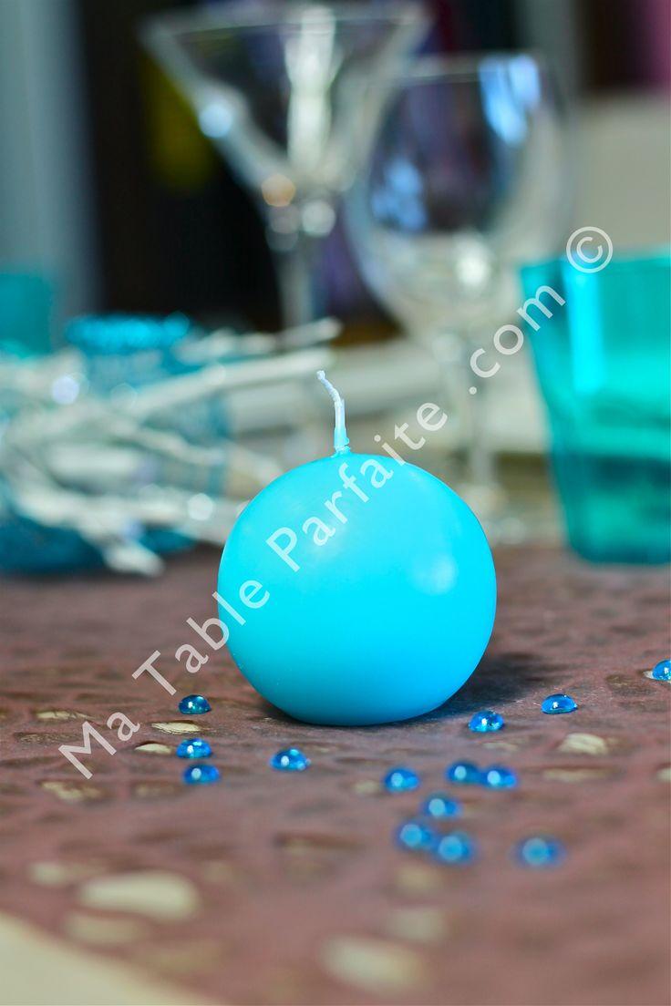 ... turquoise de la décoration de table Bleu turquoise et cacao. 10h d