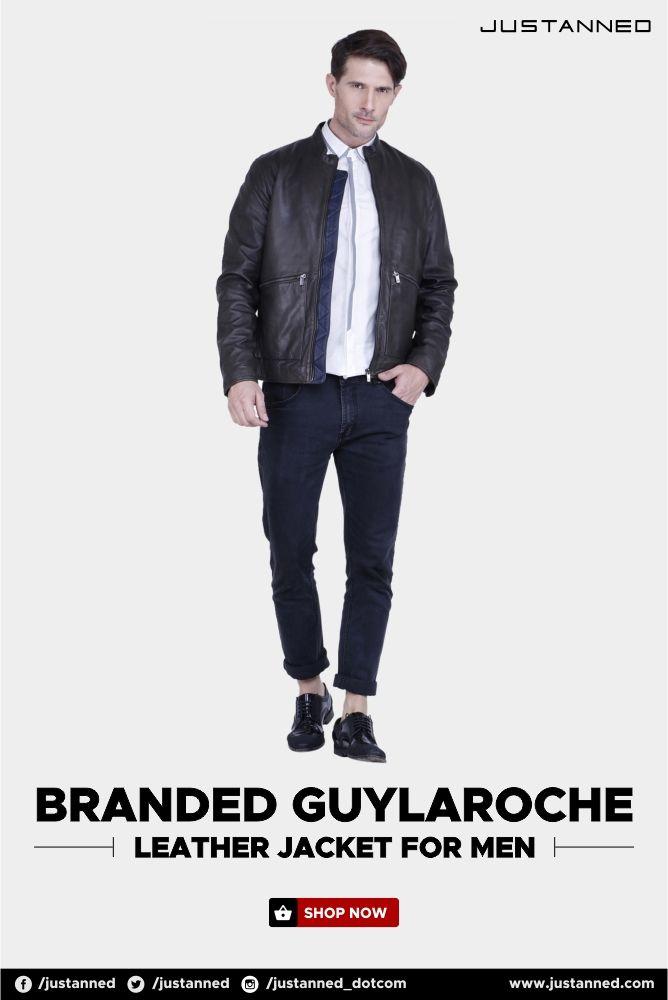 0ed7c2ec6 Branded GuyLaroche Leather Jacket for men. Exclusive range of biker ...