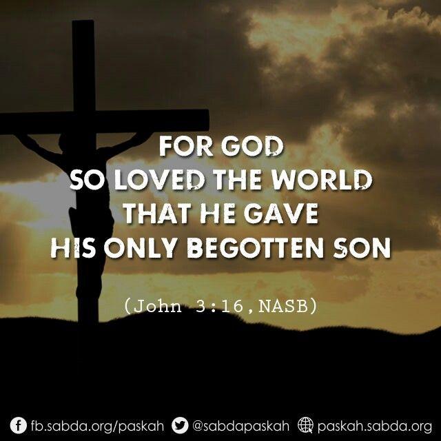 God Loved World Son John Paskah Paskah Ayat Alkitab Kutipan Tentang Cinta