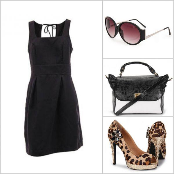 Um vestido preto básico, fica ótimo com acessórios poderosos. http://tempodemoda.climatempo.com.br/Porto_Alegre