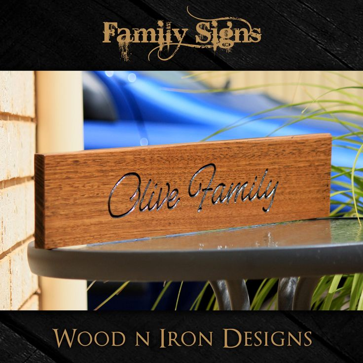 Tasmanian Oak Family sign.