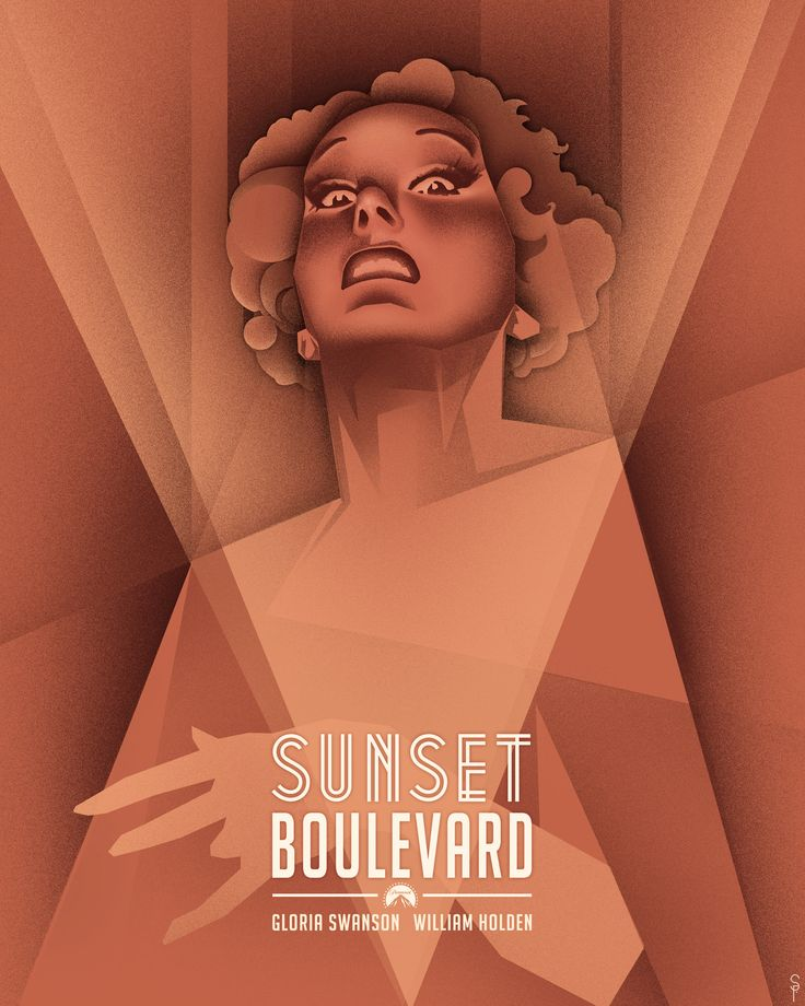 "My cubist inspired poster design from the film ""Sunset Boulevard"". Just discovered the bliss of airbrushing in Photoshop...Good times. (Copyright, Steven Fosnaugh - 2012)"