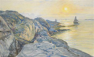 Anna Gardell Ericson (1853-1939):  Vy från Marstrandön