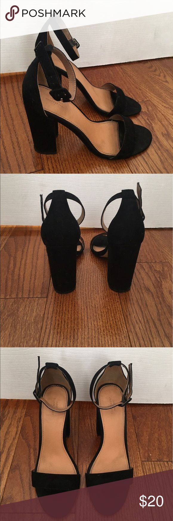 Urban Outfitters heel Strappy black heel from urban outfitters. Size 7. Urban Outfitters Shoes Heels