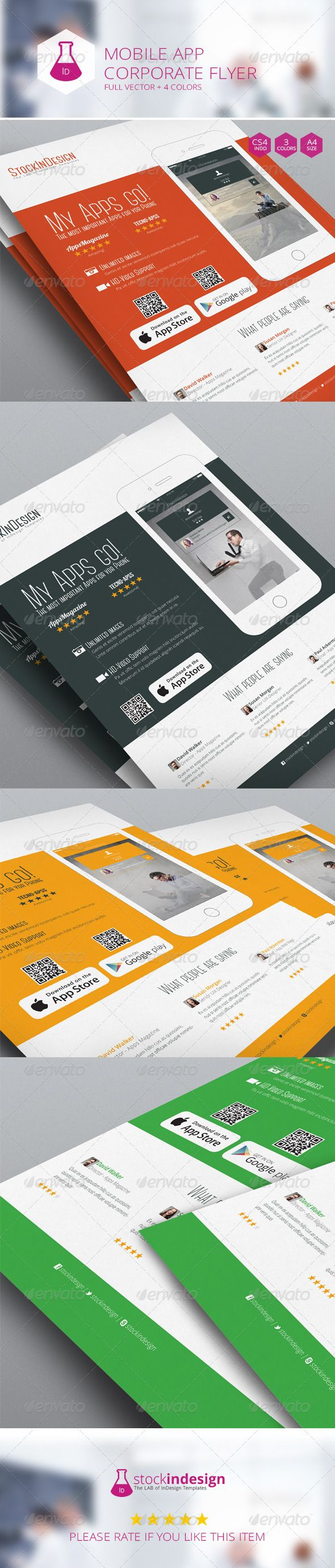 Mobile App Flyer - Flat Design