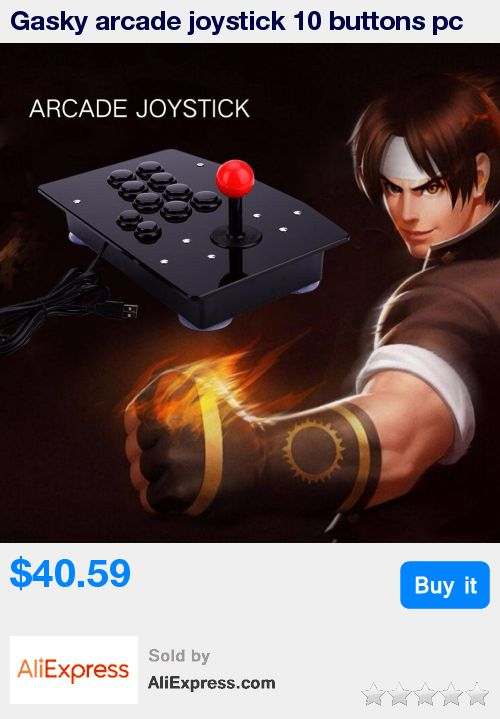 Gasky arcade joystick 10 buttons pc controller computer game Arcade Sticks new King of fighters Joystick Consoles Joystick Gift * Pub Date: 14:52 Oct 21 2017