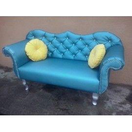 Stylowa Sofa pikowania kryształkami