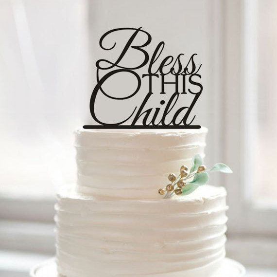 Bless THIS Child Cake Topper, Custom Letter Cake Toppers for Baby Shower Decorations, Unique Birthday Party Decorations Kids