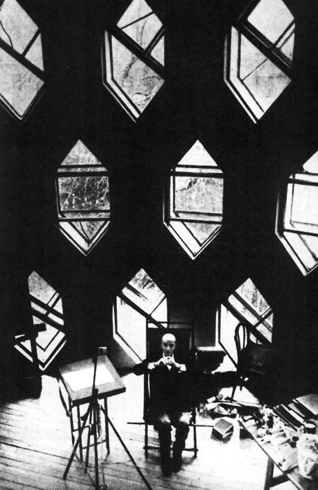 """KONSTANTIN MELNIKOV, MELNIKOV HOUSE, MOSCOW, RUSSIA, 1927 """"ARCHITECTURE IS NOT THE PURSUIT OF UTILITY OF PRACTICALITY. ARCHITECTURE IS BEAUTY. NO OTHER KINDS OF ARCHITECTURE EXIST OR CAN EXIST."""" -KONSTANTIN MELNIKOV, 1986"""