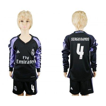 Real Madrid Trøje Børn 16-17 #Sergioramos 4 3 trøje Lange ærmer.222,01KR.shirtshopservice@gmail.com