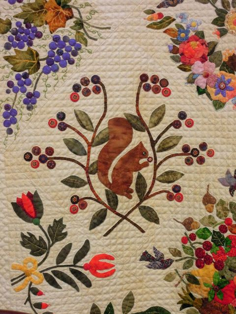 "close up, ""Gorsuch Family Quilt c. 1840 Revisited"", by Margo Hardie (Australia). Winner of the $7,500.00 Founders Award, 2013 Houston IQF. Photo by Quilt Inspiration"