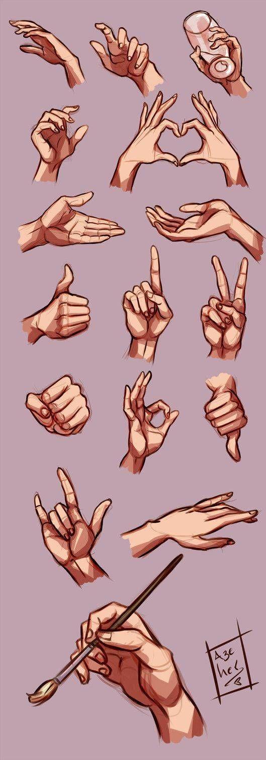 Wie man Hände in verschiedenen Positionen zieht -…