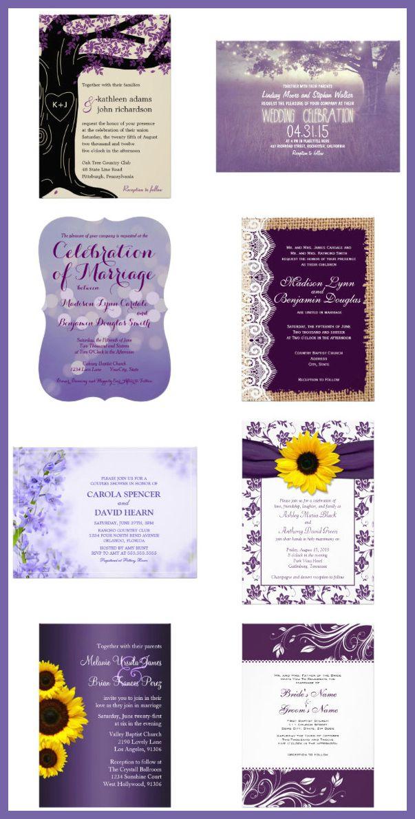 Best 25 Purple Wedding Invitations Ideas On Pinterest