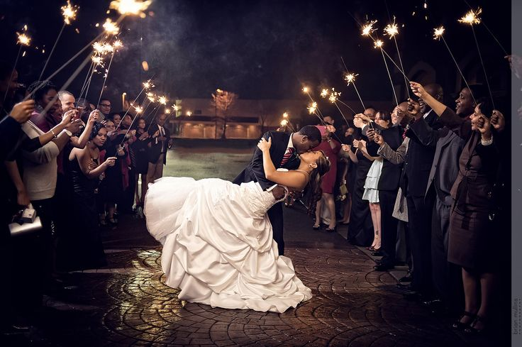 Picking the right sparklers for your exit is very important. Read on for important information and also what happened to a photographer that almost cost his career.  #sparklerexit