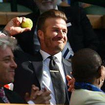David Beckham Catches a Stray Ball at Wimbledon — See the Hilarious GIFs!